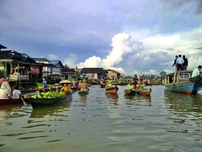 Lok Baintan floating market MartapuraSouth Borneo INDONESIA