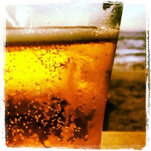 Drinkin beer by the sea... :)
