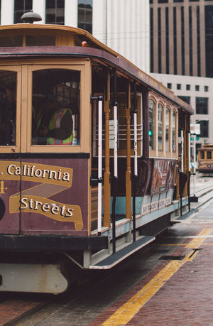 2017 Architecture Building Exterior Cable Car City Day February Mode Of Transport No People Outdoors Public Transportation San Francisco Text Train - Vehicle Tram Transportation