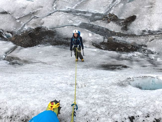 Iceland Iceclimbing Crevasse Crevasses Solheimajokull Glacier Vatnajökull Glacier, Iceland Vatnajökull Be Brave