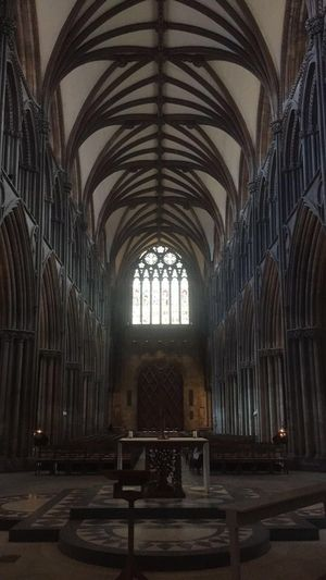 Lichfield Lichfield Cathedral Beautiful Photographer Photography Photooftheday Scenic Symetry Symetrical Church History Arch Architecture Religion Place Of Worship Window Indoors  Architectural Column Travel Destinations No People Day
