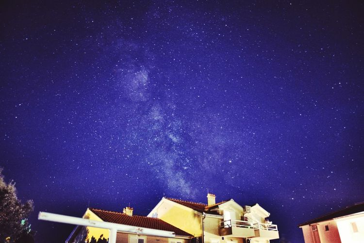 milkyway in croatia Pag Island Croatia Nikon Constellation Purple Tree