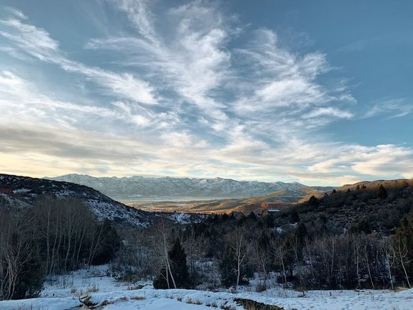 the past week has been a bit of a thaw. Utah Wasatch Back Wasatch County Snow Cold Temperature Winter Sky Mountain Cloud - Sky Scenics - Nature