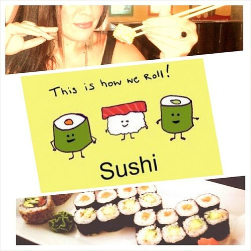 Sushi Yummy Abudhabi Friends love girls fun happy ♡ this is how we roll :D ♡