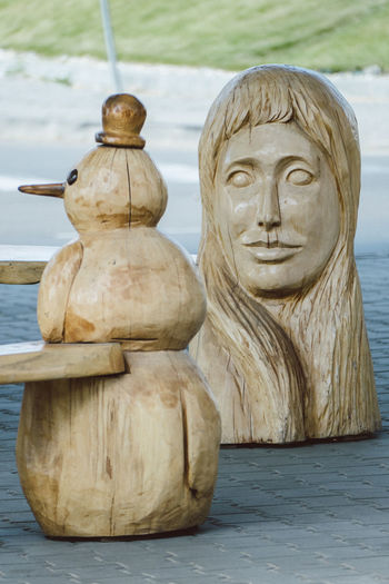 Art Carving - Craft Product Close-up Creativity Day Focus On Foreground Nature No People Outdoors Sculpture Statue Stone Material Tranquility Water Wood - Material Wooden Wooden Post
