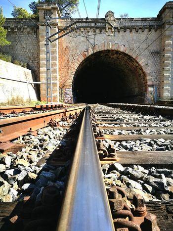 Railroad Track Rail Transportation Transportation Metal Textures HuaweiP9 Oxidation Oxidation Process Walking Around Walkwithme Caminantenohaycamino Oxido  High Angle View