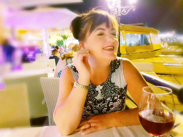 Happiness Only Women Portrait Vacations Posing For The Camera Smiling That's Me The Best From Holiday POV EyeEm Best Shots Travel Destinations Eating Out Illuminated Smiley Face Tenerife - Adeje Harbor - Water Life - Date Night