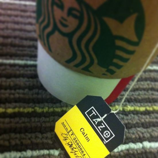 One of my favorite teas ☕.. No extra stuff! Tazo Calm