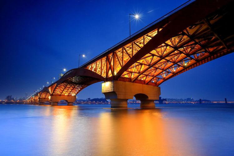 Seongsan bridge on the han river. seoul, south korea.