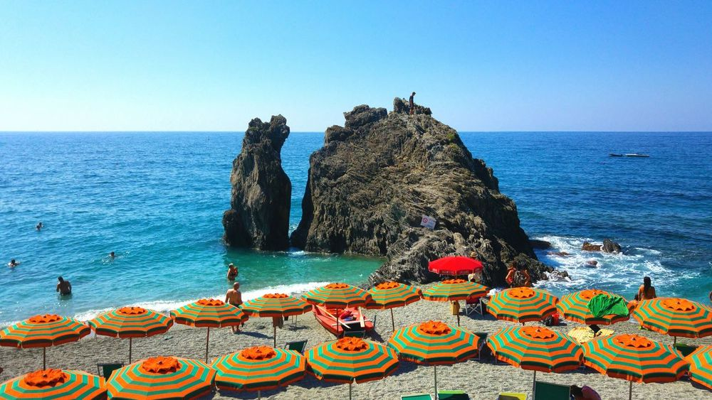 EyeEm Selects Sea Water Clear Sky Beach Outdoors Sky Nature EyeEmNewHere The Week On EyeEm Your Ticket To Europe Cinqueterreitaly Cinqueterre Notte Liguria Travel Liguria,Italy Cinqueterre Cinque Terre Cinque Terre Liguria Transportation Italy