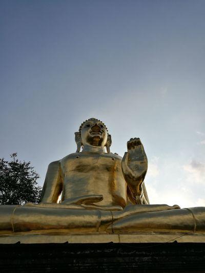 Budda Statue Budda Statue Statue Sculpture No People Sky Illuminated Night