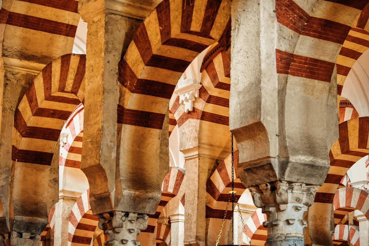 Striped Arch Ceiling At Mosque Of Cordoba