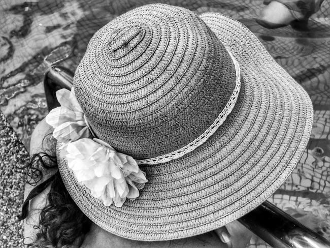 Hat Straw Hat Lifestyles Sun Hat Close-up People Outdoors Day Photography Scenics Freshness Metal Beach Tranquil Scene Vacations Blackandwhite