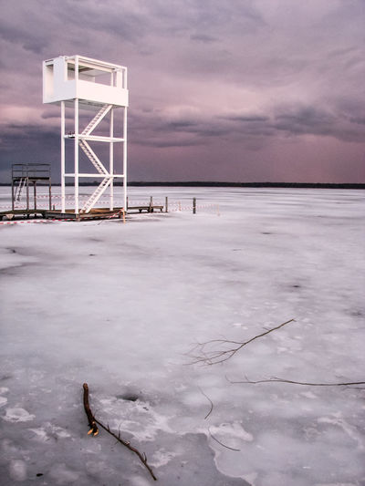 View Of Frozen Lake