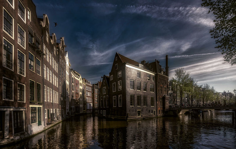 Amsterdam Holland Remo SCarfo Dutch Water Architecture Built Structure Building Exterior Sky Cloud - Sky Building Waterfront Reflection Nature Canal No People City Residential District Dusk Transportation Outdoors Tree