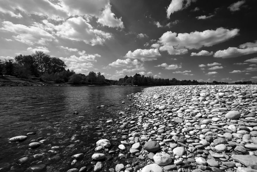Black And White Landscape Blackandwhite Blackandwhite Photography Calm Calm Water Cloud Cloud - Sky Cloudy Day Nature No People Outdoors River Riverside Shootermag Sky Taking Photos Tranquil Scene Tranquility Water Landscape Italy Landscape The Great Outdoors - 2016 EyeEm Awards Relaxing Landscape_Collection