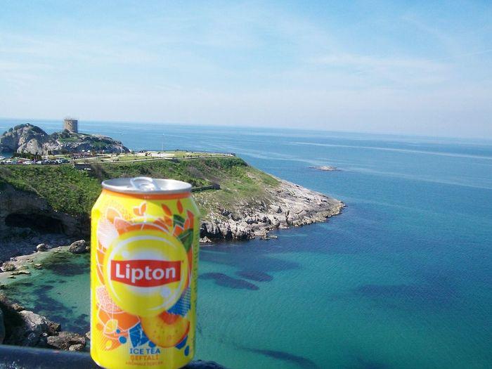 Ahmetokumuşphotography First Eyeem Photo şilekalesi Sea Liptonicetea Lipton Ice Tea Lipton Lipton Tea Liptoniceteapeach