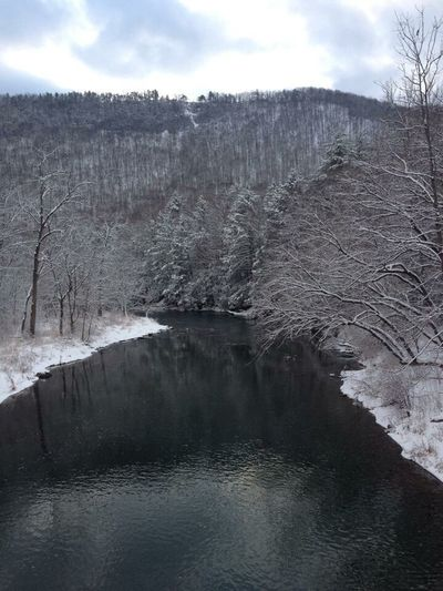 Naturally black and white Tranquility Water No People Beauty In Nature River Winter