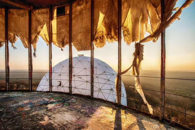 Interior of abandoned building at teufelsberg