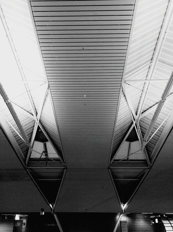 Amsterdam Schiphol Airport Symmetry Airport Architecture Roof