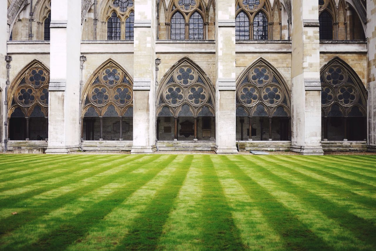 Lawn Against Historic Building