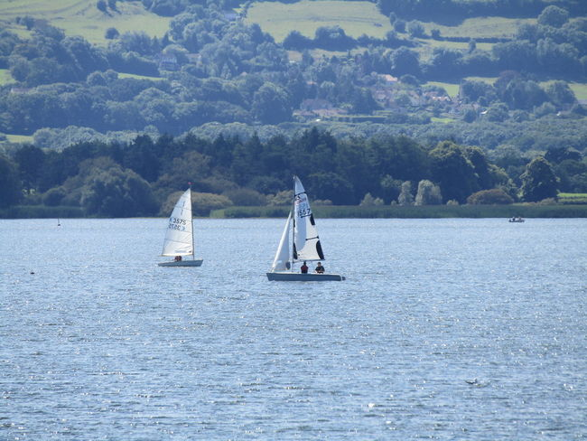 Nature On Your Doorstep Sailing Boat On Lake Nature Transportation Chewvalleylake Walking Around The Lakes Hills Background