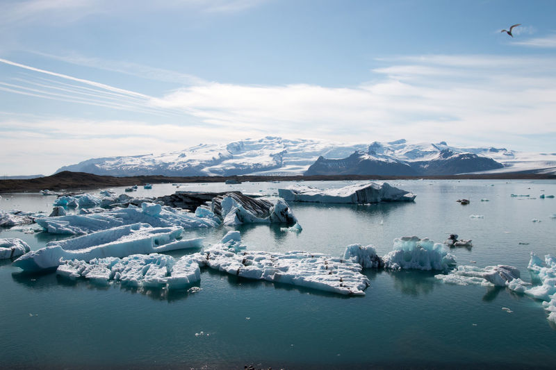 Scenic View Of Icebergs