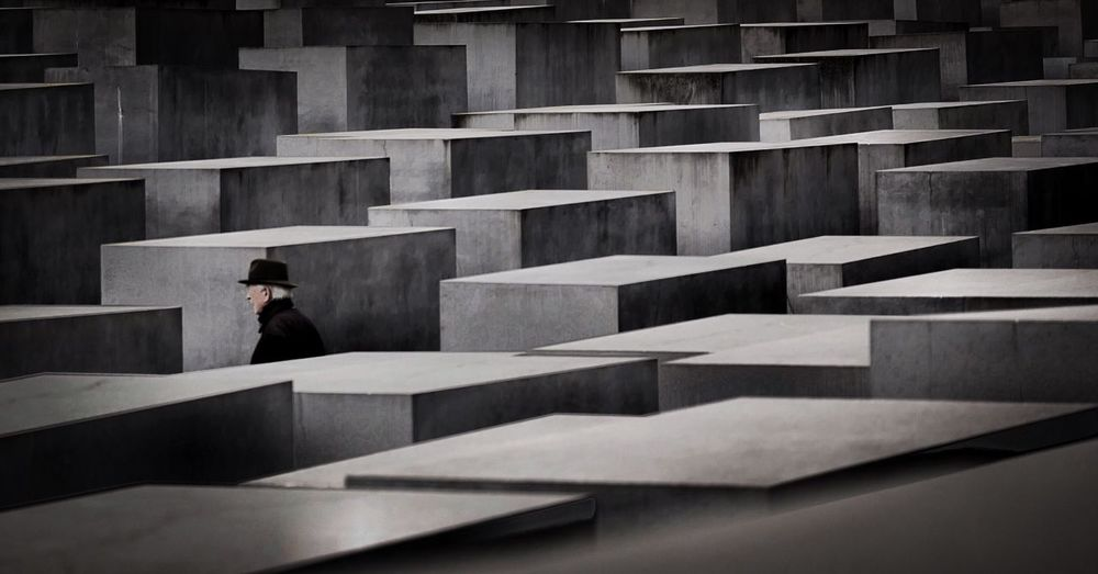Leica Remember One Person Men Day Outdoors Architecture People Holocaust Memorial Berlin Photography Photo Monument Travel Past Memorial Discover Berlin