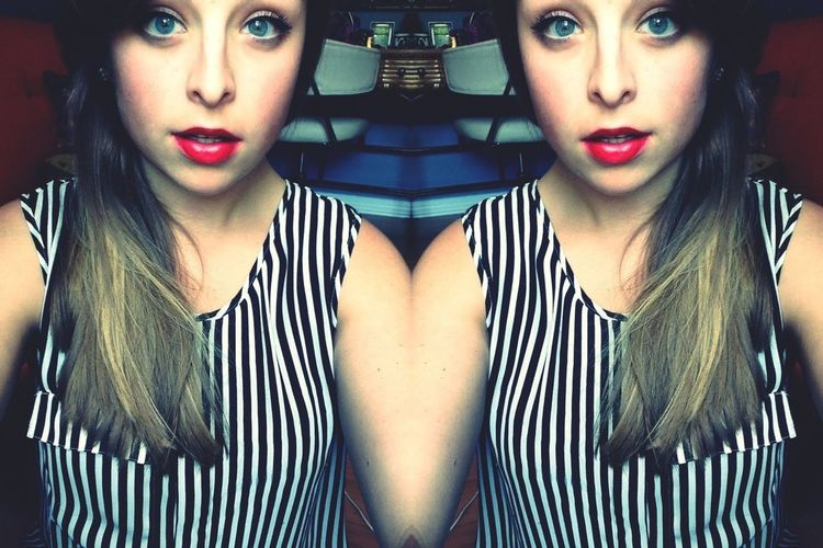 She's got the worst of intentions and she smells like trouble and cheap perfume. Red Lips Girl Selfie