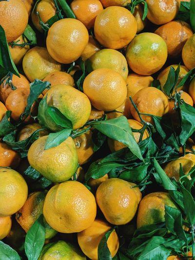 Full frame shot of fruits in market