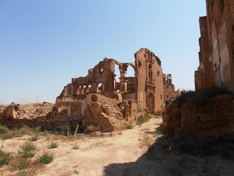 Civil War Ancient Civilization Architecture Belchite Viejo Built Structure History Nature Old Ruined