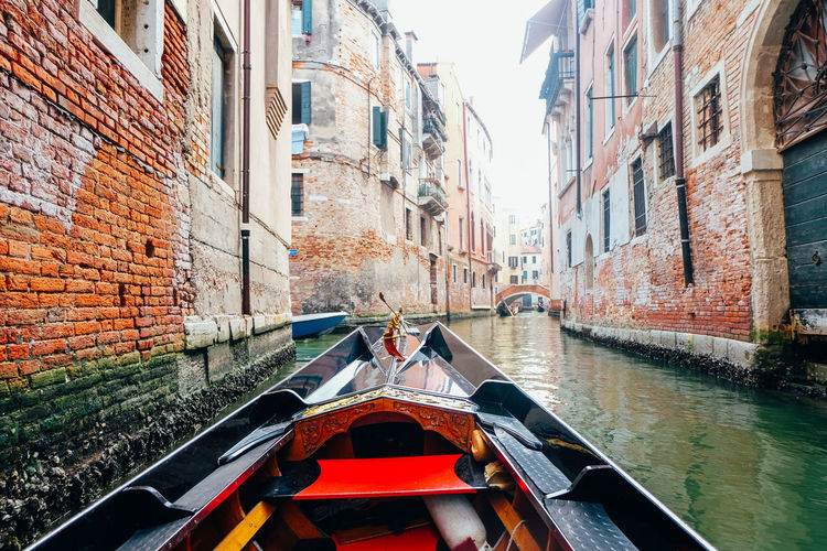 Gondola Ride in Venice Italy Italy Venice Venice, Italy Travel Travel Destinations Canal Building Exterior Mode Of Transportation Architecture Built Structure Nautical Vessel Transportation Water Day Wall Brick Wall Brick Nature Building City Gondola No People Outdoors Gondola - Traditional Boat