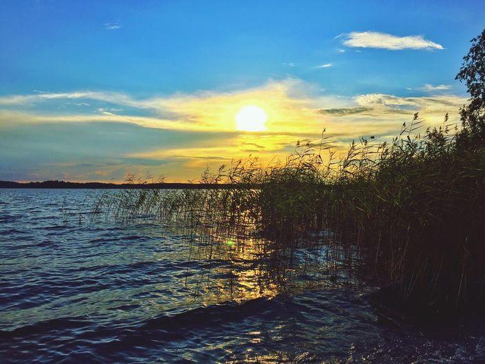sundown Finnish Sundown Sundown At The Lake Relaxing Taking Photos Enjoying Life Sundownlovers Sundown Landscape Summer Summertime