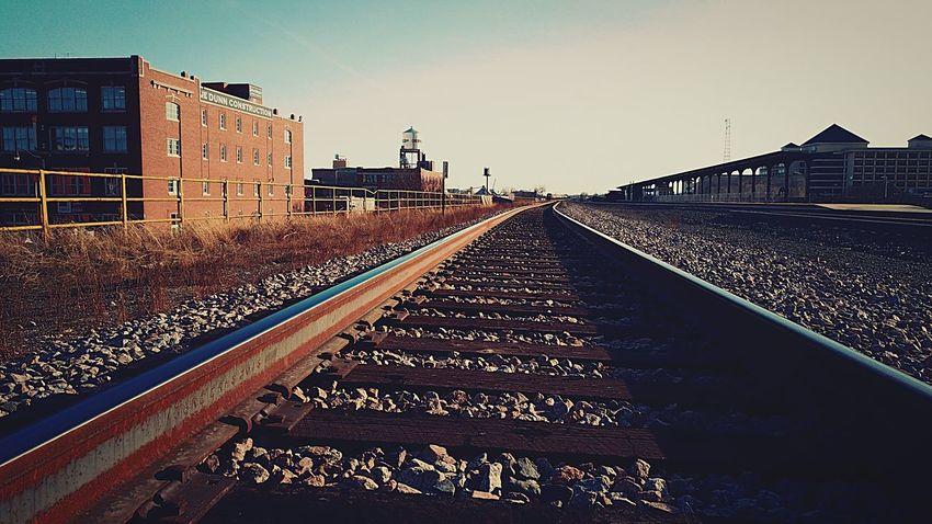 Downtown OKC train track!