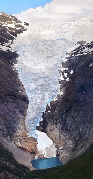 Scenic view of briksdalsbreen