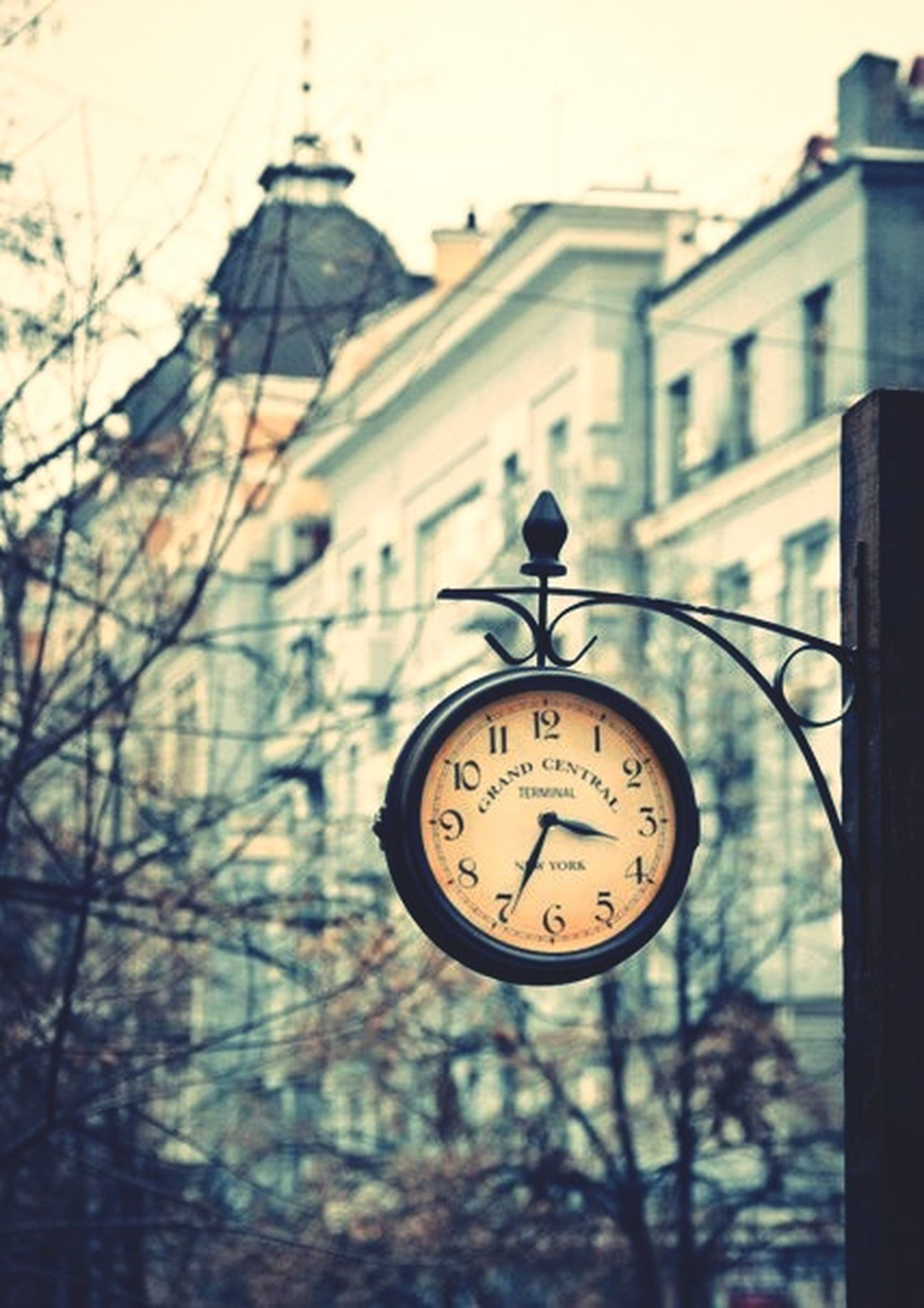 clock, time, communication, text, number, clock tower, close-up, low angle view, clock face, building exterior, architecture, western script, built structure, focus on foreground, guidance, religion, no people, day, information sign, road sign