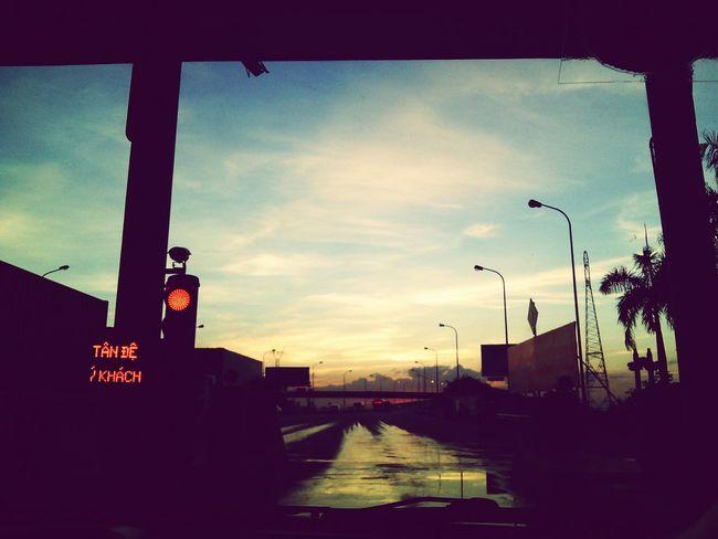 Way to my hometown Thái Bình Vietnam Highway Hometown Sundown Afternoon