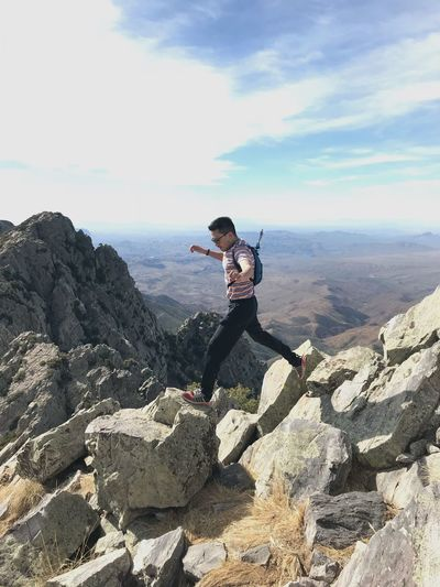 Mountain Hikingadventures Rock Climbing Adventure Gay Arizona Hiking One Person Lifestyles Leisure Activity Full Length Rock Real People Go Higher Beauty In Nature Rock - Object Sky Solid Young Adult Scenics - Nature Nature Sunlight Day Mountain Outdoors Casual Clothing Visual Creativity Visual Creativity The Great Outdoors - 2018 EyeEm Awards My Best Photo The Great Outdoors - 2019 EyeEm Awards