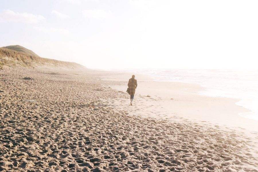 """You can go your own way. You can call it another lonely day."" EyeEm Nature Lover Outdoors Showcase: December Beach Light Dust Walking Traveling Lonely Minimalism Landscapes With WhiteWall Sylt Sylt, Germany"