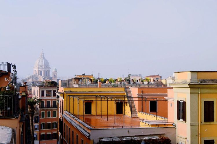 Rome, Italy VaticanCity Rooftop View Italy Rome Colourful Tourism Red Detail Houses Blue Sky Streetphotography City Life Cityscapes Traveling Travel Photography Roma Quiet Moments Tourist Ancient Civilization Urban Geometry Urbanphotography
