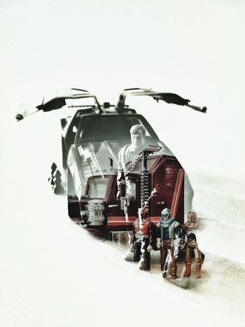 Double Exposure Icon 80s Timeless Time Machine Team Mission Vintage Mask Trailer Truck Retro Tractor Rig View Close-up Multiple Exposure Multi-layered Effect Multiple Image Composite Image Double Exposure