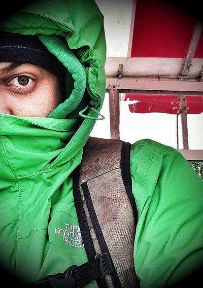"""It is freaking cold! Rain&Wind """"sucks"""""""