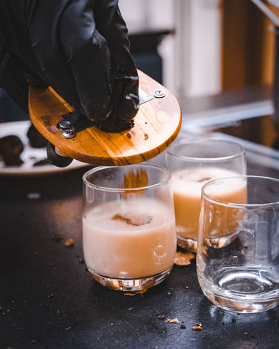 Drink Glass Refreshment Drinking Glass Food And Drink Household Equipment Indoors  Table One Person Freshness Food Real People Focus On Foreground Close-up Alcohol Still Life Glass - Material Pouring Preparation