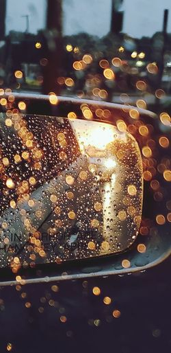Objects in mirror are closer than they Appear Car Backgrounds Water Illuminated Close-up Bubble Froth Art Vehicle Side-view Mirror Car Interior