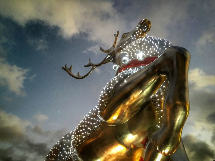 Xmas Statue of a Reindeer in Covent Garden  in London Showcase: November