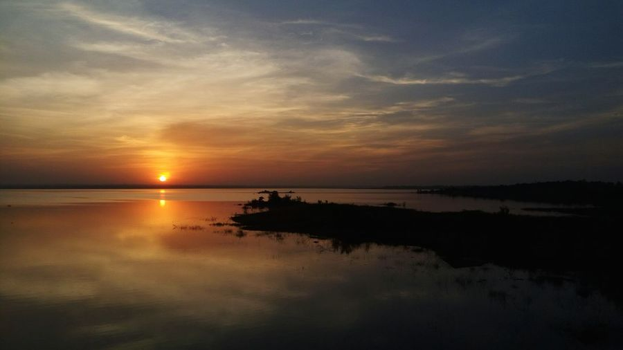 My Year My View Sunset Reflection Water Nature Scenics Landscape Outdoors Beauty In Nature No People Sky Love♥ Love Without Boundaries Hyderabad,ındia Gandipet_lake Tranquility