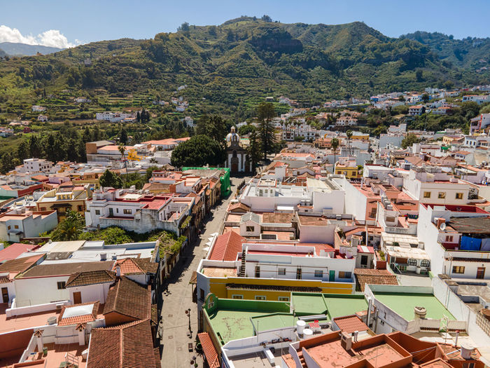 Aerial view on teror in gran canaria