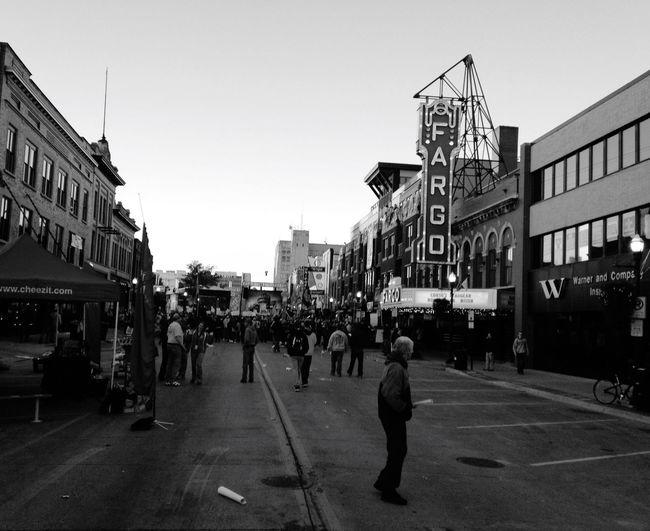 QVHoughPhoto Cityscapes Streetphoto_bw Streetphotography Fargo Northdakota Downtown Ndsu Espncollegegameday Fargotheatre Blackandwhite IPhoneography IPhone4s
