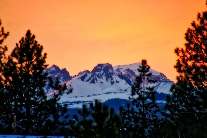 Beauty In Nature Bend Oregon Broken Top Mountain Cold Cold Temperature Covering Landscape Majestic Mountain Mountain Range Scenics Season  Sky Snow Snowcapped Tranquil Scene Weather Winter
