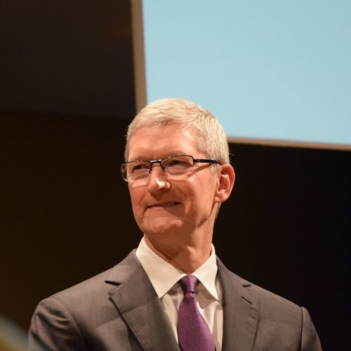 Today I met Tim Cook TimCook Apple UniBocconi Cook  Ceo